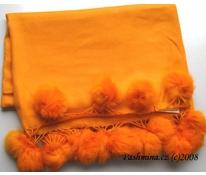 Oranžové s bambulkami - 2 odstíny