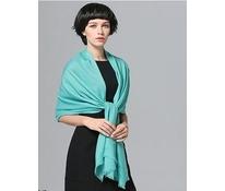 Vlněný šál zeleno-modrý