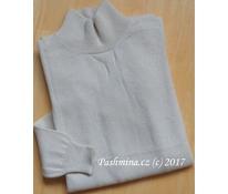 Prodloužený svetr bílý 1, vel. S
