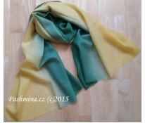 Vlněný šál zelenožlutý