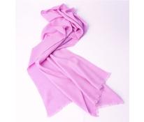 Vlněný šál s kašmírem růžový