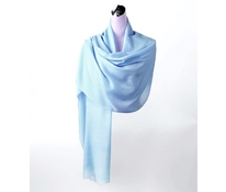 Vlněný šál s kašmírem modrý