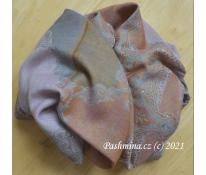 Vlněné pončo fialkové